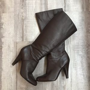 Jessica Simpson Brown Heeled Boots Size 8